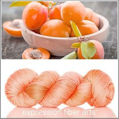 """461 Likes, 14 Comments - Expression Fiber Arts (@expressionfiberarts) on Instagram: """"New APRICOT Dewy dk yarn! http://www.expressionfiberarts.com/  A delicious, lip-lickingly…"""""""