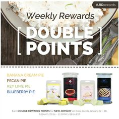 Head on over to my website and get your baked goods and some double points .. #jic #candles #tarts #jewelry #beautiful #soywax #natural #sahm #wahm #doublepoints