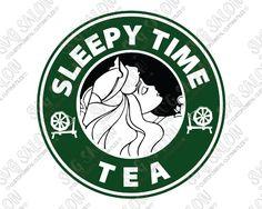Aurora Starbucks Logo Disney Sleepy Time Tea SVG Cut File Set