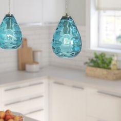 New Bradsher 1 - Light Single Bell Pendant by Brayden Studio. Lighting Home Decor Furniture Diy Pendant Light, Globe Pendant, Lantern Pendant, Pendant Lighting, Mini Pendant Lights, Blown Glass Pendant Light, Metal Vase, Globe Lights, Floral Centerpieces