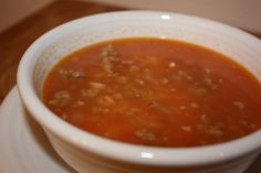 Tomato, Rice and Sausage Soup