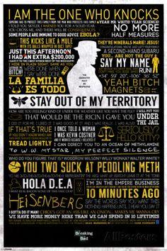 Breaking Bad - Typographic - Posters på AllPosters.se