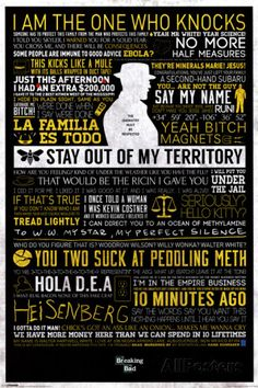 Breaking Bad - Typographic Póster