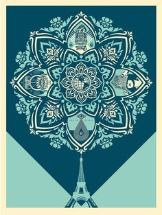 """A Delicate Balance"" by S. Fairey (@OBEYGIANT) ON SALE TODAY @ A RANDOM TIME 149,5€ #GoodBoutique #StreetArt #Soon"