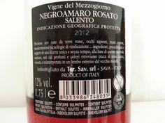 Negramaro Rosato - retro