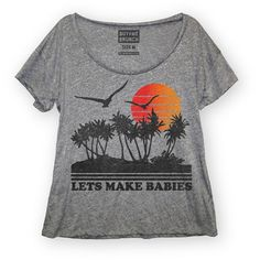 Make+Babies+Tee+Women's+Gray now featured on Fab.