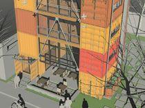 Construcción en contenedores para edificio comercial / para oficina