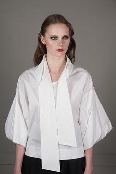 Рубашка с рукавами-оригами - J.Perekriostova