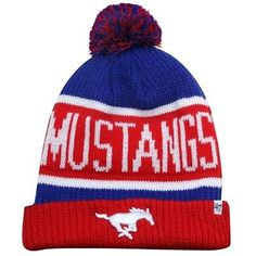 '47 Brand SMU Mustangs Calgary Knit Hat - Red/Royal Blue