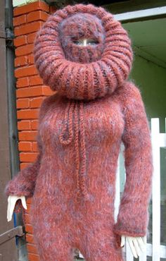 Knitwear Fashion, Sweater Fashion, Sweater Outfits, Fluffy Sweater, Mohair Sweater, Mohair Yarn, Balaclava, Catsuit, Keep Warm