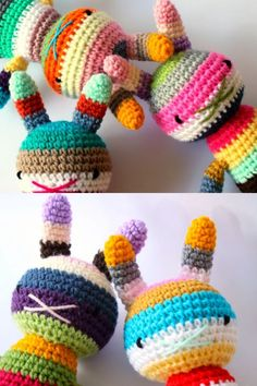 Adorable and colourful knitting / crochet project.