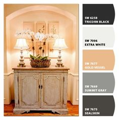 Made with Chip It! by Sherwin Williams new paint chip tool - great finish on cabinet.