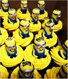 Minion Cupcakes. This was another order of cupcakes with minion toppers :-) Made with red velvet and yellow coloured cream cheese icing