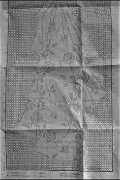 Crochê Bohemian Curtains, Long Curtains, Interweave Crochet, Fillet Crochet, Crochet Curtains, Crochet Flowers, Crochet Stitches, Cross Stitch, Diy Crafts