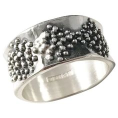 Stunning Anniversary Gift for Women Born in 1974 Brutalist Hallmarked Silver Cuff Bracelet Slow Fashion Vintage Chunky Silver Jewelry