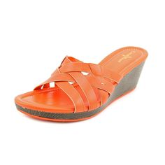 Cole Haan Women's Bonnie Strappy Slide (Orange Pop) ** Check out this great image  : Strappy sandals