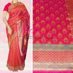 Nool Indian Pink Handloom Jamawar Silk Kanchipuram Silk Patola Silk Uppada Silk Saree Floral Jacquard Motifs Traditional Weaved VB.95.7 http://www.nool.co.in/product/sarees/noolindian-magenta-uppada-silk-sari-bollywood-designer-latest-collection-vb957