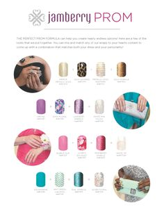 Great design ideas for prom!! Jamberry Nail Wraps. Don't have to worry about the manicure drying or getting messed up before prom! http://alisonfox.jamberrynails.net/