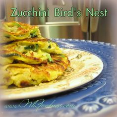 These are such a fun way to eat the zucchini that's exploding in the garden! You need a spiralizer, but who doesn't have one of those? If you don't, they're a great addition to a grain. Grain Free, Real Food Recipes, Zucchini, Nest, Grains, Paleo, Veggies, Gluten Free, Birds