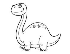Dibujo de Dino Diplodocus para colorear