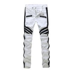 ed9bcd00f6199 2019 2016 Hole Jeans For Men Classical Streetstyle Skull Print Designer  Stylish Straight Jeans Pants Wholesale 1885 From Jeans1990