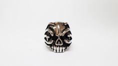 Anillo Crazy Skull en Acero Inoxidable, Tallas 8,9 y 10