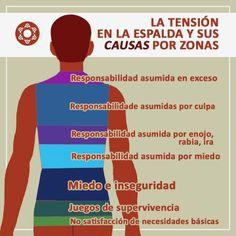 Causes de tension en la espalda/ causes of a tense back Health And Nutrition, Health Tips, Health And Wellness, Health Fitness, Health Care, Reiki, Soul Healing, Detox Tips, Kundalini Yoga