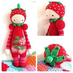 strawberry mod made by Natasja S. / based on a lalylala crochet pattern