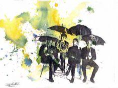 В рамках недели Великобритании, я вспомнила о самой знаменитой английской четверке.И вот в каком виде я бы хотела вам их представить :)The Beatles (отдельно участников ансамбля называют «битлами», также их называют «великолепной четвёркой») — британская рок-группа из Ливерпуля, основанная в 1960 году, в составе которой играли: Джон Леннон, Пол Маккартни, Джордж Харрисон, Ринго Старр.