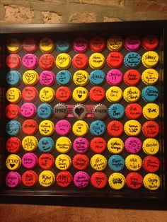 Beer cap guest book for wedding