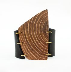 Awesome Etsy listing at https://www.etsy.com/pt/listing/178264497/leather-statement-cuff-bracelet-wooden