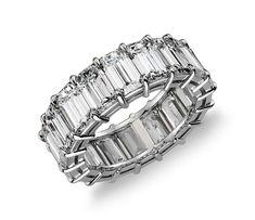 Emerald Cut Diamond Eternity Ring in Platinum #BlueNile #DiamondEternityRings