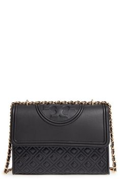Tory Burch 'Fleming' Convertible Shoulder Bag in BLACK or BEDROCK. Probs one of the most gorgeous bags I've ever seen.