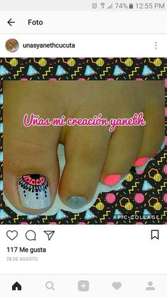 Toe Nail Art, Toe Nails, Paws And Claws, Toe Nail Designs, Nails Inspiration, Hair And Nails, Finger, Hair Beauty, Nail Polish
