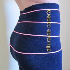 Tomar medida tiro delantero y trasero para pantalón descaderado o tiro bajo