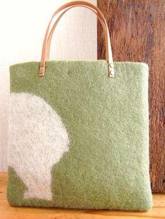 羊毛フェルトバッグ bear - 手作り雑貨とジュエリーショップのAtelier Nico(アトリエニコ)|nico工房
