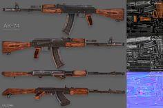 AK-74 Assault Rifle Model by Beatheart Creative Studio on @creativemarket