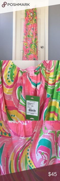 Lilly Pulitzer Maxi Dress Lilly Pulitzer maxi dress in print All Nighter. NWT. Has great stretch, perfect item for packing! Lilly Pulitzer Dresses Maxi