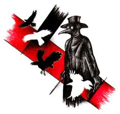 A friend of mine said, that maybe he wants a plague doctor tattoo design. He is still very unsure about it, but I like his idea and so I've drawn this. Trash polka hell yeah Tools: black and red co...