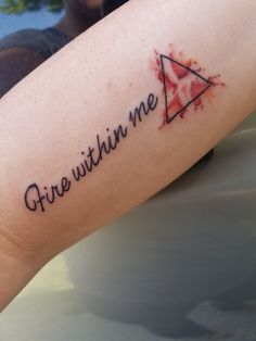 Fire within me tattoo Sagittarius fire element tattoo