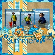 The first thing you need to know about making a scrapbook is that it isn't a complicated process at all. Scrapbooking isn't just for the 'crafty' person among Beach Scrapbook Layouts, Vacation Scrapbook, Scrapbook Designs, Scrapbook Sketches, Scrapbooking Layouts, Digital Scrapbooking, Scrapbook Templates, Paper Bag Scrapbook, Baby Scrapbook
