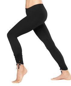 Love this Lucy Black Convertible Power Leggings by lucy on #zulily! #zulilyfinds