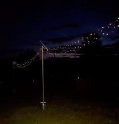 These mobile string light poles are the perfect easy DIY for spring. They would be great on a patio or around the pool, but, at… Outdoor Chandelier, Outdoor Lighting, Lighting Ideas, Wedding Lighting, Pergola Lighting, Rustic Lighting, Solar Lamp, Solar Lights, Diy Solar