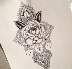 Rose mandala tattoo design...