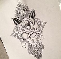 Rose mandala tattoo design...