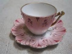 Antique cup and saucer coffee in porcelain made in germany