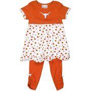 Texas Longhorns Toddler T-Shirt and Legging Set - Burnt Orange/White