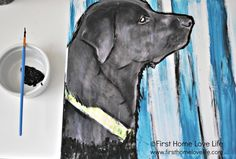 Easy hand painted pet portrait with an incredible cheat. You can do this with your pets. For real. :)