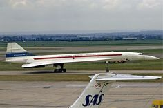 """Concorde: """"On Her First Visit."""" To London-Heathrow Airport, UK on 1st July,1972."""