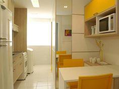 ambiente S.C.A. - cozinha amarela - yellow kitchen - armários amarelos - cores na cozinha